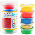 Sensory Tactile Theraputty Therapy Putty Multi Pack 5 kleuren / 5 sterktes