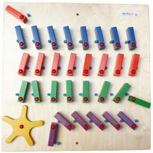 Wandpaneel Domino Vierkant met Wiel