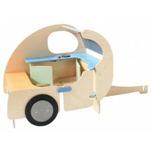 Houten Caravan Speelhoek