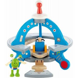 Hape Houten speelvoertuig Ufo Blauw
