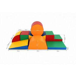 Soft Play foam speelblokken set 11, 8-delig XL