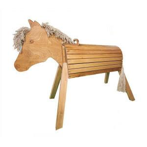 Houten Paard 80 Cm Geglazuurd