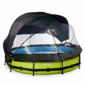 EXIT Lime Zwembad ø360x76cm met Overkapping, Schaduwdoek en Filterpomp - Groen 30.36.12.40