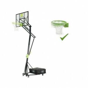 Exit Galaxy Verplaatsbaar Basketbalbord Op Wielen Met Dunkring - Groen/Zwart