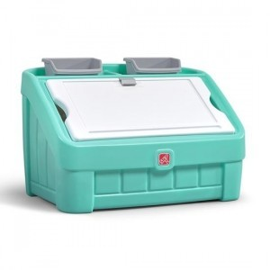 2-in-1 Toy Box & Art Lid - Mint - Step 2 (481899)