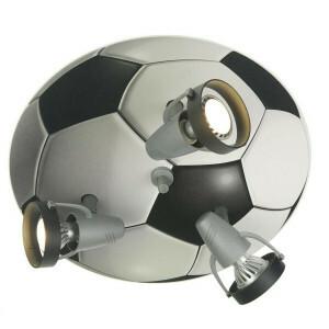 Plafondlamp Voetbal Zwart Wit