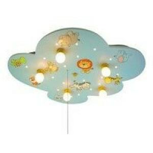 Plafondlamp Wolk Xxl, Wilde Dieren (Amazon Echo Kompatibel)