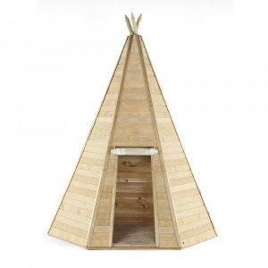 Grand Wooden Teepee Hideaway Speelhuis