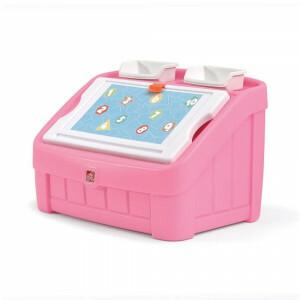 2-in-1 Speelgoedbox & Tekenbord (roze) - Step2 (848800)