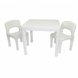 Witte kindertafel & 2 stoelen set (8809W)
