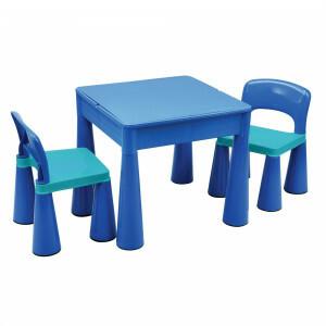 5-in-1 multifunctionele activiteitentafel en 2 stoelen - Blauw (899B)