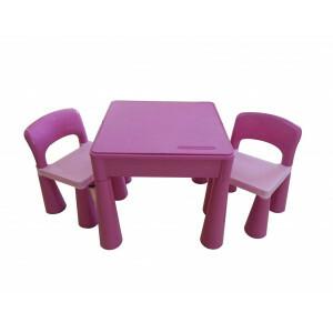 5 in 1 multifunctionele activiteitentafel en 2 stoelen - roze (899PN)