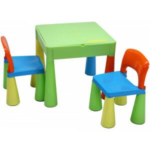 5-in-1 multifunctionele activiteitentafel & 2 stoelen - Veelkleurig (899UN)