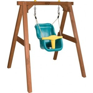 AXI Baby Swing Brown with seat / FSC 100% Hemlock wood / 9 - 36 months / 5 year warranty! / Including 4 ground anchors