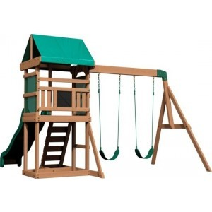 Backyard Discovery Springboro All Cedar Wood Speelset Swing Set