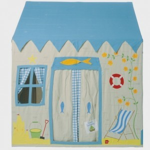 Win Green Beach House Playhouse (klein) +Floor Quilt