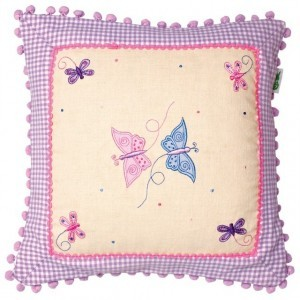 Butterfly Cottage Cushion Cover - Win Green (1603)