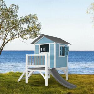 AXI Beach Lodge XL Speelhuis Caribisch blauw - Grijze Glijbaan C050.002.81