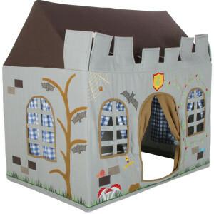 Knight Castle Playhouse (klein) + Floor Quilt (Win Green)