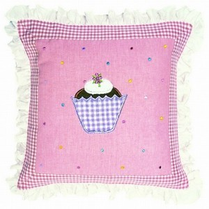 Gingerbread Cottage Cushion Cover - Win Green (1607)