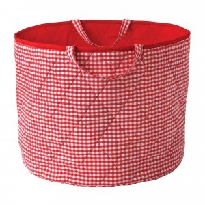 Gingham Toy Basket (Rood) - Kiddiewinkles (REDGTB)