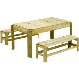 Houten Picknick Activity Tafel met losse banken - Plum