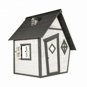 Houten Speelhuis Cabin (grijs/wit) - Sunny (C050.003.00)