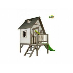 Houten Speelhuis Cabin XL (grijs/wit) - Sunny (C050.004.00)