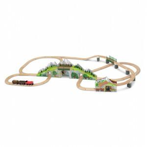 Houten treinbaan met Bergtunnel - Melissa & Doug (10611)