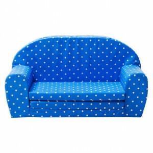 Uitklapbare Mini sofa (blauw met witte stippen) - Gepetto (05.07.04.02)