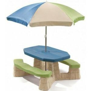Picknicktafel met parasol (aqua) - Step 2 (843800)
