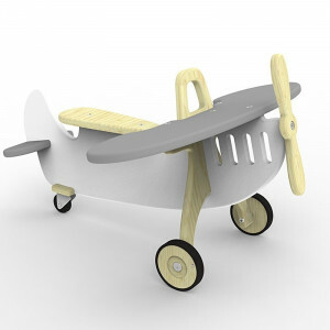 Vliegtuig Rider Marian Grijs