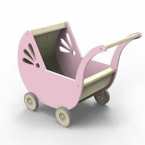 Lila Poppenwagen Roze