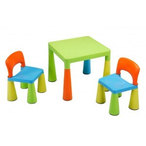Multi-gekleurde tafels en stoelen voor kinderen (SM004UN)
