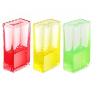 Fidget Ooze Tube (3x Rectangle) Yellow, Red and Green