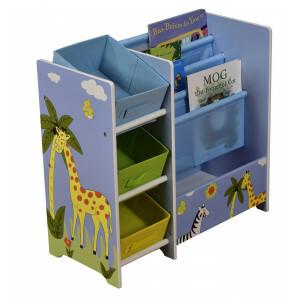 Safari boekenkast met opbergbakken (TF5007)