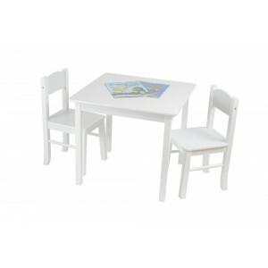 Witte houten tafel & 2 stoelenset (TF5303)