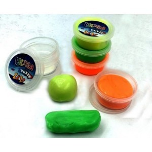 UV Sensorische Putty Glow in the Dark Set van 6
